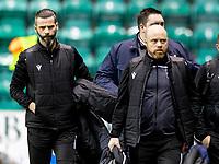 12th February 2020; Easter Road, Edinburgh, Scotland; Scottish Premiership Football, Hibernian versus Ross County; Steve Ferguson Manager of Ross County  and Stuart Kettlewell Manager of Ross County arrive for the game