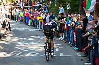 Picture by Richard Blaxall/SWpix.com - 30/09/2018 - Cycling 2018 Road Cycling World Championships Innsbruck-Tirol, Austria - Men's Elite Road Race - Benjamin King of the United States USA on the Ride to Höll (Hell Climb)