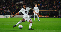 Swansea City's Kyle Naughton scores his side's second goal <br /> <br /> Photographer Chris Vaughan/CameraSport<br /> <br /> The EFL Sky Bet Championship - Hull City v Swansea City -  Friday 14th February 2020 - KCOM Stadium - Hull<br /> <br /> World Copyright © 2020 CameraSport. All rights reserved. 43 Linden Ave. Countesthorpe. Leicester. England. LE8 5PG - Tel: +44 (0) 116 277 4147 - admin@camerasport.com - www.camerasport.com
