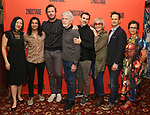 Young Jean Lee, Ty Defoe, Armie Hammer, Tom Skerritt, Paul Schneider, Kate Bornstein, Josh Charles, Anna D. Shapiro attends photo call for the Second Stage Theatre Company production of 'Straight White Men'  at Sardi's on June 14 30, 2018 in New York City.