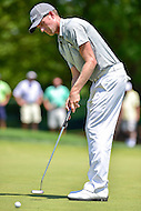 Bethesda, MD - June 26, 2016: Webb Simpson (USA) hits a putt on the first hole during Final Round of play at the Quicken Loans National Tournament at the Congressional Country Club in Bethesda, MD, June 26, 2016. (Photo by Philip Peters/Media Images International)