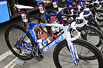 Thibaut Pinot's (FRA) FDJ team Lapierre bike outside the team bus at sign on in Verviers before the start of Stage 3 of the 104th edition of the Tour de France 2017, running 212.5km from Verviers, Belgium to Longwy, France. 3rd July 2017.<br /> Picture: Eoin Clarke | Cyclefile<br /> <br /> <br /> All photos usage must carry mandatory copyright credit (&copy; Cyclefile | Eoin Clarke)