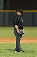 Field umpire Glen Meyerhofer during an Arizona League game between the AZL Indians 2 and the AZL Cubs 2 at Sloan Park on August 2, 2018 in Mesa, Arizona. The AZL Indians 2 defeated the AZL Cubs 2 by a score of 9-8. (Zachary Lucy/Four Seam Images)