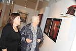 Brigid Robinson and Sheila Grennan admire the art in the Highlanes prior to the Sonata performance..Picture: Shane Maguire / www.newsfile.ie