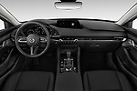 Stock photo of straight dashboard view of 2019 Mazda Mazda-3 Preferred-Package 4 Door Sedan Dashboard