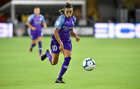 WASHINGTON, DC - AUGUST 24: Orlando Pride forward Marta (Marta Vieira da Silva) (10) races to a ball in the offensive end during the National Women's Soccer League (NWSL) game between the Orlando Pride and Washington Spirit August 24, 2019 at Audi Field in Washington, D.C.. (Photo by Randy Litzinger/Icon Sportswire)