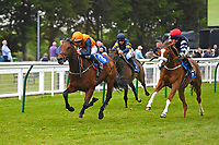 Winner of The Shadwell Racing Excellence Apprentice Handicap Marshall Dan ridden by Stefano Church and trained by Heather Main during Afternoon Racing at Salisbury Racecourse on 16th May 2019