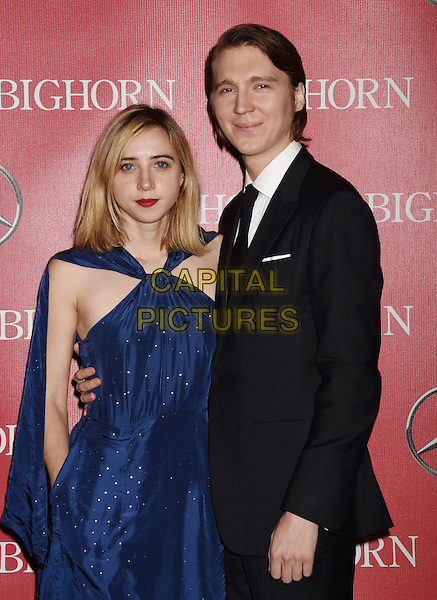 PALM SPRINGS, CA - JANUARY 02: Actors Paul Dano (R) and Zoe Kazan attend the 27th Annual Palm Springs International Film Festival Awards Gala at Palm Springs Convention Center on January 2, 2016 in Palm Springs, California.<br /> CAP/ROT/TM<br /> &copy;TM/ROT/Capital Pictures