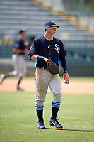Charlotte Stone Crabs first baseman Brendan McKay (31) during a game against the Bradenton Marauders on June 3, 2018 at LECOM Park in Bradenton, Florida.  Charlotte defeated Bradenton 10-1.  (Mike Janes/Four Seam Images)