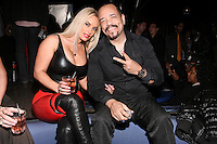 Coco and Ice-T pose together at the Sachika Twins - To-Tam Ton-Nu, and To-Nya Ton-Nu - Birthday party, at Juliet Supper Club NYC, December 13 2010.