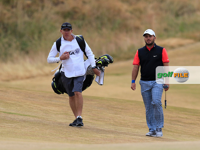 Francesco MOLINARI (ITA) at the 1st green during Thursday's Round 1 of the 2015 U.S. Open 115th National Championship held at Chambers Bay, Seattle, Washington, USA. 6/18/2015.<br /> Picture: Golffile | Eoin Clarke<br /> <br /> <br /> <br /> <br /> All photo usage must carry mandatory copyright credit (&copy; Golffile | Eoin Clarke)