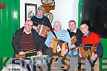 Musicians and singers who performed at the Bog Village in aid of the Chernobyl Children's Fund on Friday night were from l-r John McElligott, Sony Egan, Eddie Browne, Tom O'Connell and Tom Costello,   Copyright Kerry's Eye 2008