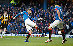 Dean Shiels scores the opening goal for Rangers
