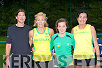 Annette O'Brien, Brid Stack Gneeveguilla, Mary Fitsgerald An Riocht and Breda Barrett who ran in the Senior County athletics championships in Castleisland on Friday evening.