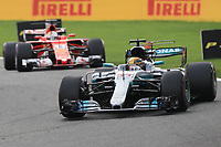 Spa 27/08/2017 Formula 1 / GP F1 Belgio Francorchamps <br /> <br /> Hamilton Nr. 44 Mercedes-Vettel Nr. 5 Ferrari <br /> Foto Benoit Bouchez / Photonews /Panoramic /Insidefoto