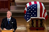 Former Canadian Prime Minister Brian Mulroney speaks during the State Funeral for former President George H.W. Bush at the National Cathedral, Wednesday, Dec. 5, 2018, in Washington. <br /> Credit: Andrew Harnik / Pool via CNP