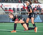 AMSTELVEEN - Lauren Stam (Adam)    tijdens de hoofdklasse hockeywedstrijd dames,  Amsterdam-Oranje Rood (2-2) .   COPYRIGHT KOEN SUYK