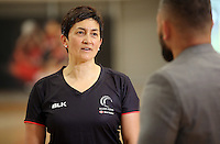 24.08.2016 Silver Ferns assistant coach Yvette McCausland-Durie in action during the Silver Ferns Training in Auckland. Mandatory Photo Credit ©Michael Bradley.