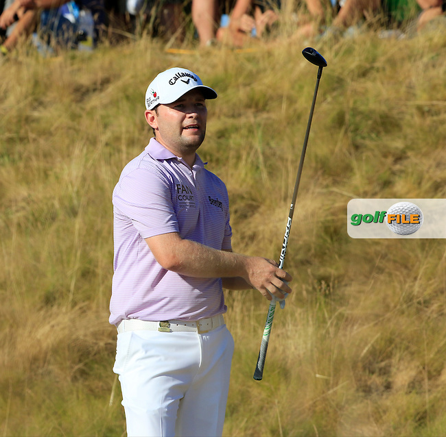 Branden GRACE (RSA) tees off the 16th tee and puts his ball out of bounds during Sunday's Final Round of the 2015 U.S. Open 115th National Championship held at Chambers Bay, Seattle, Washington, USA. 6/22/2015.<br /> Picture: Golffile | Eoin Clarke<br /> <br /> <br /> <br /> <br /> All photo usage must carry mandatory copyright credit (&copy; Golffile | Eoin Clarke)