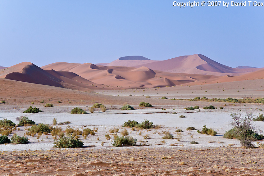Sossusvlei Pan and dunes and surrounds, Namibia