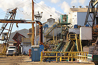 Lafourche Sugarcane Mill operating during the October harvest - Thibodaux, LA
