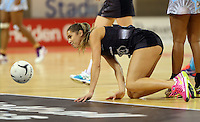 16.07.2015 Silver Ferns Kayla Cullen in action during the Silver Fern v Fiji netball test match played at Te Rauparaha Arena in Porirua. Mandatory Photo Credit ©Michael Bradley.