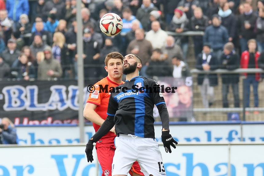 Muhammad Aoudia (FSV) gegen Dominique Heintz (FCK) - FSV Frankfurt vs. 1. FC Kaiserslautern, Frankfurter Volksbank Stadion