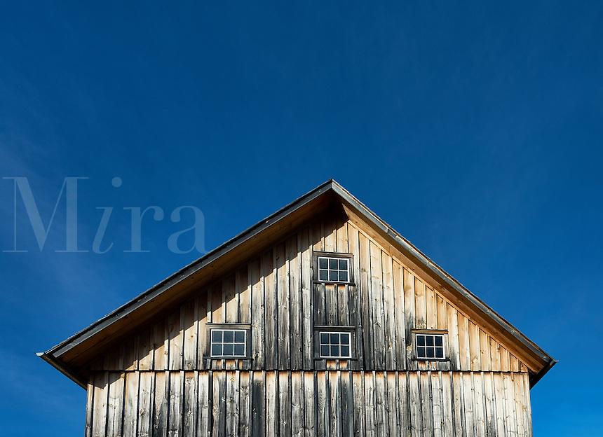 Wooden barn detail, Vermont, USA