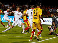 George  Puscas shoots and scores during  Finale Playoff di Serie A   Benevento Carpi  allo  Stadio Vigorito  di Benevento , 08 giugno 2017
