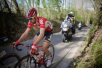 Thomas De Gendt (BEL/Lotto-Soudal) up the Haagaard climb<br /> <br /> 55th Brabantse Pijl 2015