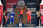 Sonny Colbrelli (ITA) Bahrain-Merida wins the 102nd edition of GranPiemonte 2018, with Florian Senechal (FRA) Quick-Step Floors in 2nd place and Davide Ballerini (ITA) Androni Giocattoli-Sidermec 3rd, running 191km from Racconigi to Stupinigi, Piemonte, Italy. 11th October 2018.<br /> Picture: LaPresse/Marco Alpozzi   Cyclefile<br /> <br /> <br /> All photos usage must carry mandatory copyright credit (© Cyclefile   LaPresse/Marco Alpozzi)
