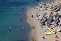 Spain, Mallorca, Portals Nous: View over beach | Spanien, Mallorca, Portals Nous: Strand