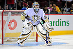 3 February 2009: Pittsburgh Penguins' goaltender Mathieu Garon warms up prior to a game against the Montreal Canadiens at the Bell Centre in Montreal, Quebec, Canada. The Canadiens defeated the Penguins 4-2. ***** Editorial Sales Only ***** Mandatory Photo Credit: Ed Wolfstein Photo