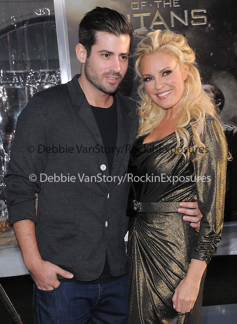 Bridget Marquardt & date at The Warner Bros. Pictures L.A. Premiere of Clash of The Titans held at The Grauman's Chinese Theatre in Hollywood, California on March 31,2010                                                                   Copyright 2010  DVS / RockinExposures