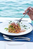 Restaurant Scoglitti -  Fettucine Ricci (sea urchins) Valletta, Malta