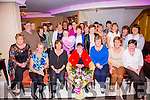 Marion Curran seated front centre from Valentia celebrated a birthday and her retirement from the Catering Staff of St Annes Hospital Cahersiveen on Friday night with family and colleagues in the Ring of Kerry Hotel.