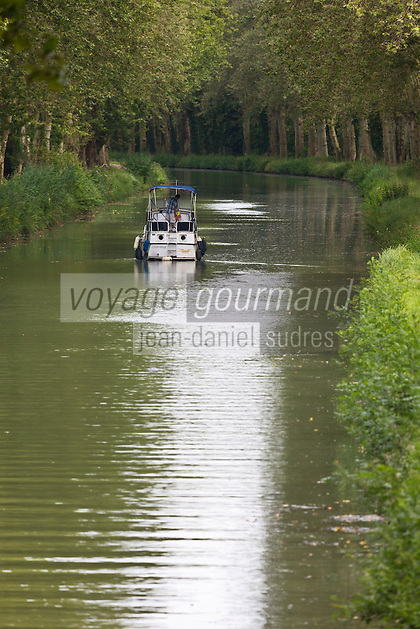 Europe/France/Aquitaine/47/Lot-et-Garonne/Caumont-sur-Garonne: le Canal de Garonne, toujours nommé canal latéral à la Garonne ou  canal des deux mers