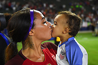 Carson, CA - Thursday August 03, 2017: Sydney Leroux after the 2017 Tournament of Nations match between the women's national teams of the United States (USA) and Japan (JPN) at the StubHub Center.