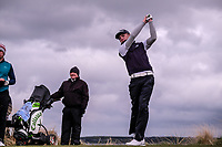 Reece Black (Hilton Templepatrick Golf Club) during the 3rd round of matchplay at the 2018 West of Ireland, in Co Sligo Golf Club, Rosses Point, Sligo, Co Sligo, Ireland. 02/04/2018.<br /> Picture: Golffile   Fran Caffrey<br /> <br /> <br /> All photo usage must carry mandatory copyright credit (&copy; Golffile   Fran Caffrey)
