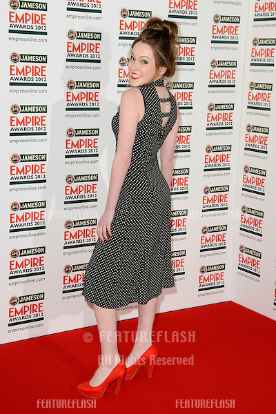 Charlotte Spencer arriving for the Empire Film Awards 2012 at the Grosvenor House Hotel, London. 25/03/2012 Picture by: Steve Vas / Featureflash