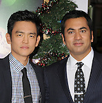 "HOLLYWOOD, CA - NOVEMBER 02: John Cho and Kal Penn arrive at the ""A Very Harold & Kumar 3D Christmas"" Los Angeles Premiere at Grauman's Chinese Theatre on November 2, 2011 in Hollywood, California."