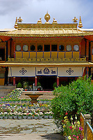 Takten Migyur Potrang, or New Summer Palace of the 14th Dalai Lama, at Norbulingka, founded by the 7th Dalai Lama in 1755, Lhasa, Tibet, China.