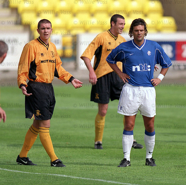 Marco Negri after his comeback from injury in the 1999-2000 season scoring in a reserve match at Livingston