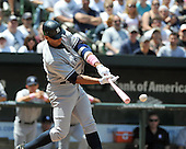 Baltimore, MD - May 10, 2009 -- New York Yankees third baseman Alex Rodriguez (13) connects for a single in the first inning against the Baltimore Orioles at Oriole Park at Camden Yards in Baltimore, MD on Sunday, May 10, 2009..Credit: Ron Sachs / CNP.(RESTRICTION: NO New York or New Jersey Newspapers or newspapers within a 75 mile radius of New York City)