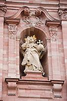 Europe/Allemagne/Bade-Würrtemberg/Heidelberg: Eglise des Jésuites - Jesuitenkirche - Baroque 18 e s détail façade