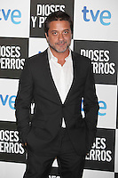 Enrique Arce poses at `Dioses y perros´ film premiere photocall in Madrid, Spain. October 07, 2014. (ALTERPHOTOS/Victor Blanco) /nortephoto.com