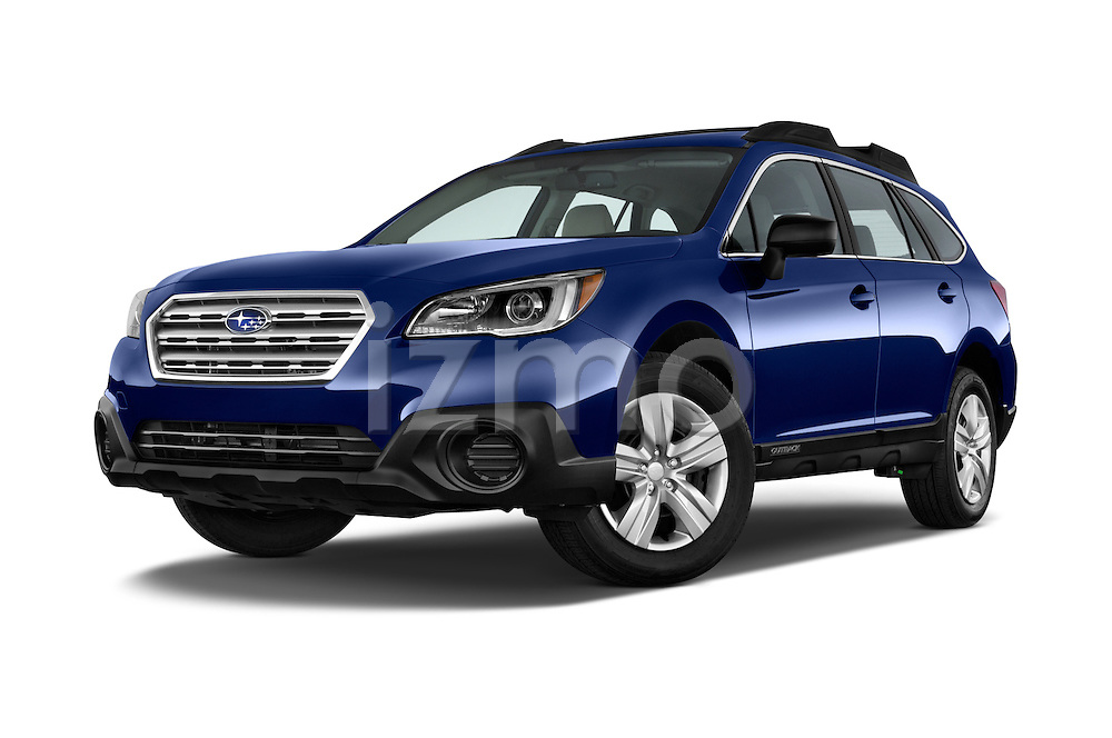 Stock pictures of low aggressive front three quarter view of a 2015 Subaru Outback 2.5i CVT 4 Door Wagon Low Aggressive