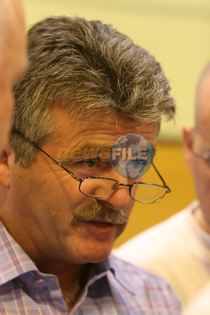 Outgoing TD Arthur Morgan SF at the Louth Election count in Dundalk ..Photo: Newsfile/Fran Caffrey..