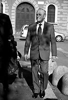 20 Mar 2001 Milano: processo per la Strage di p.zza Fontana, deposizione del generale Gianadelio Maletti capo del reparto D controspionaggio militare (SID).<br /> Mar 20 2001 Milan: trial for the piazza Fontana bombing, deposition of Gianadelio Maletti of the military counter-espionage