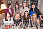 Abbyfeale Girls, Katie O'Connor, Debbie Keane, Catherine O'Neill, Tracey Butcher, Amanda Morrissey, Ashling O'Brien, Claire Mitchell, Leanna Morrissey enjoying a Night Out. at The Stone house on Saturday